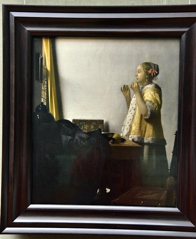德國-柏林-畫廊(Gemäldegalerie)-Woman with a Pearl Necklace(戴珍珠項鍊的女人)