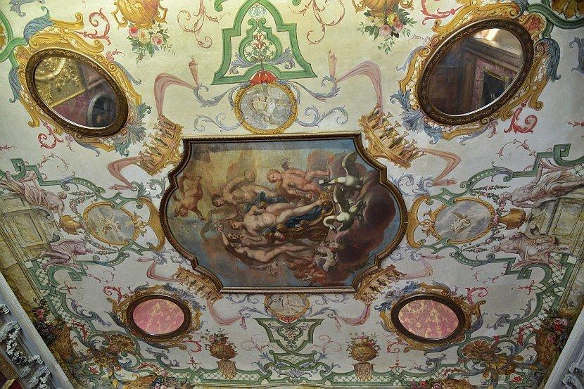德國-柏林-夏洛登堡宮(Schloss Charlottenburg)-舊皇宮更衣間的維納斯天花板壁畫