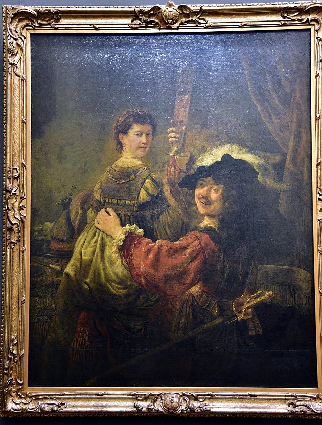 德國-德勒斯登-茲溫格宮-歷代大師畫廊-Rembrandt and Saskia in the Scene of the Prodigal Son