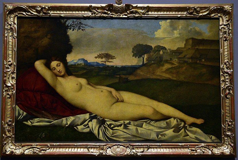 德國-德勒斯登-茲溫格宮-歷代大師畫廊-沉睡的維納斯(Sleeping Venus)