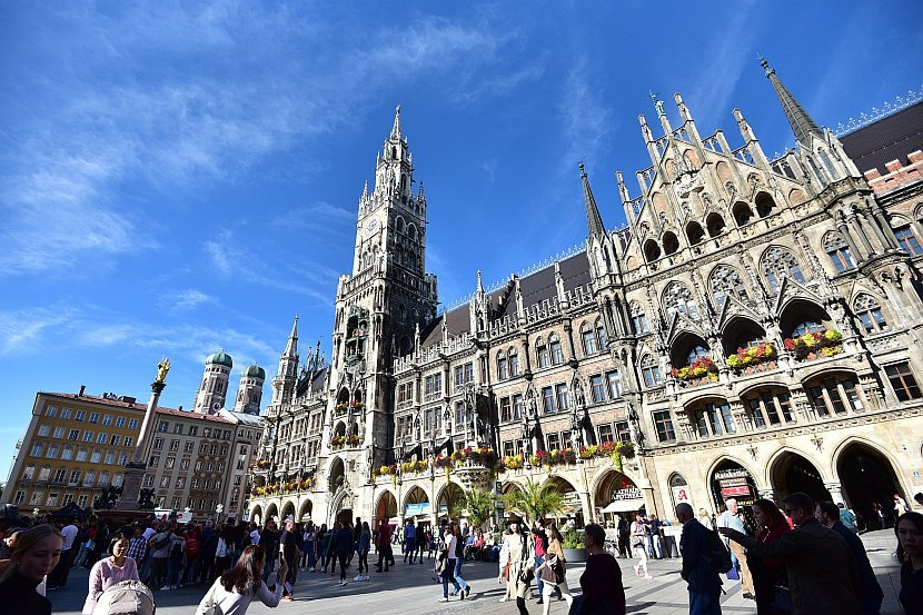 德國-慕尼黑-瑪麗恩廣場
