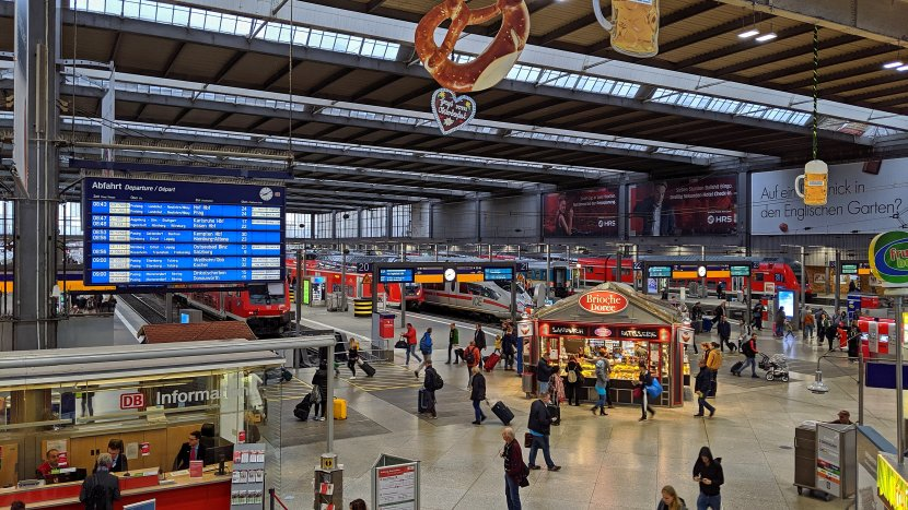 德國-慕尼黑-中央車站