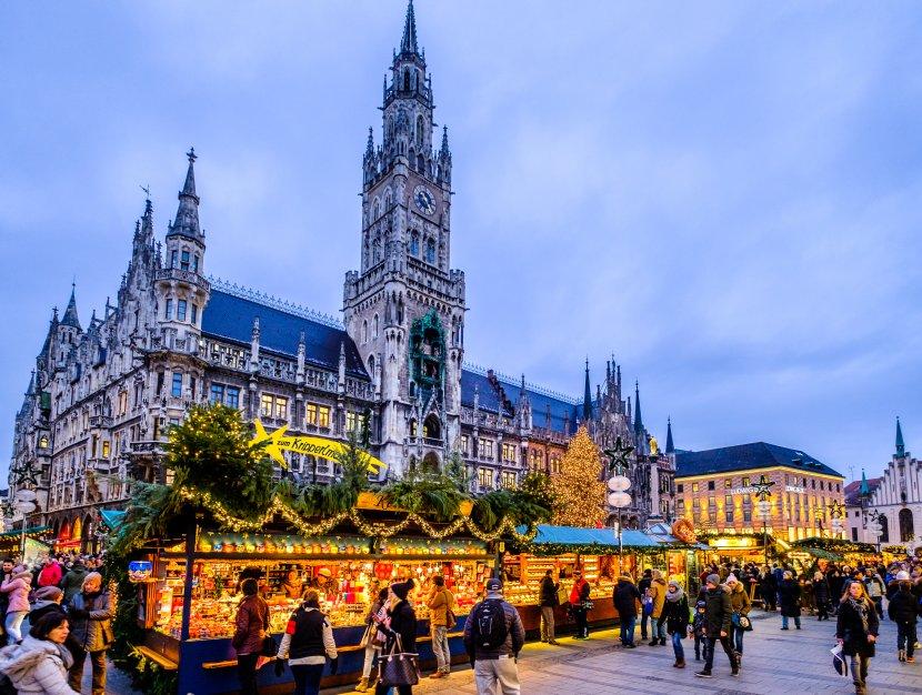德國-慕尼黑-新市政廳與聖誕市集