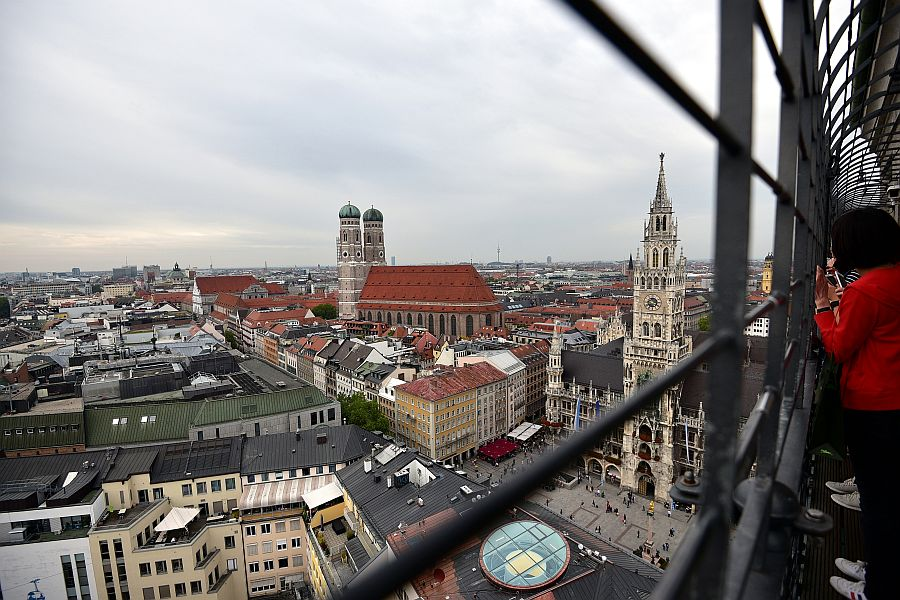 慕尼黑-老彼得教堂-高塔俯瞰市區