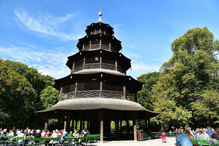慕尼黑-英國花園-中國人塔