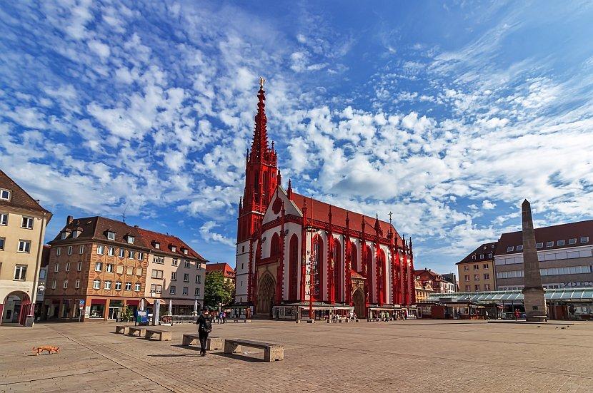 德國-符茲堡-符茲堡市場廣場(Marktplatz)與聖母禮拜堂