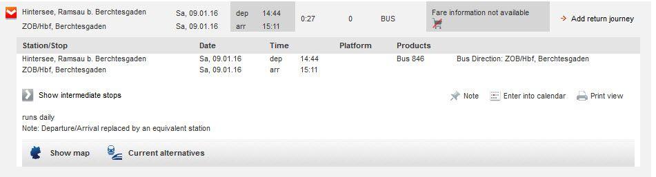 貝希斯特加登到辛特湖的公車