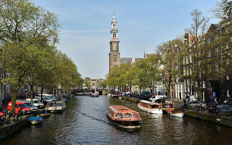 荷蘭-阿姆斯特丹-西教堂與運河