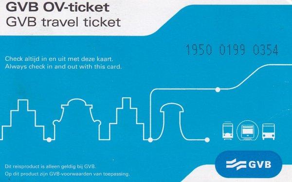 荷蘭-阿姆斯特丹-GVB票卡