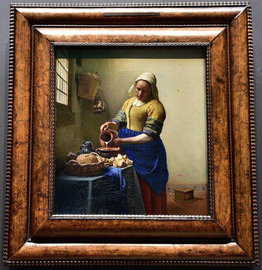 荷蘭-阿姆斯特丹-荷蘭國立博物館-維梅爾的倒牛奶的女僕(De Melkmeid / The Milkmaid)