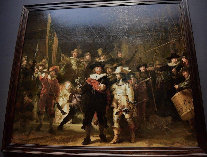 荷蘭-阿姆斯特丹-國家博物館鎮館之寶:夜巡