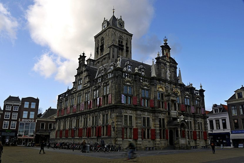 荷蘭-台夫特-市集廣場市政廳