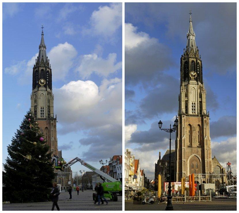 荷蘭-台夫特-市集廣場新教堂