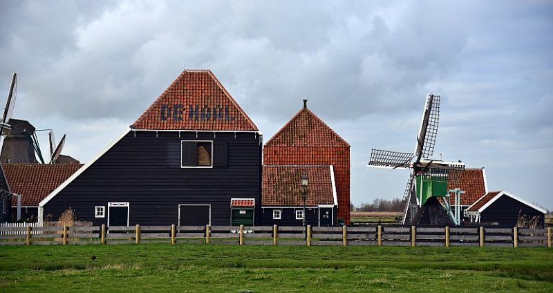 荷蘭-桑斯安斯風車村