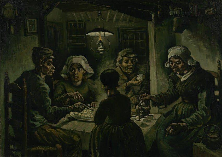 荷蘭-阿姆斯特丹-梵谷博物館-吃馬鈴薯的人(The Potato Eaters)