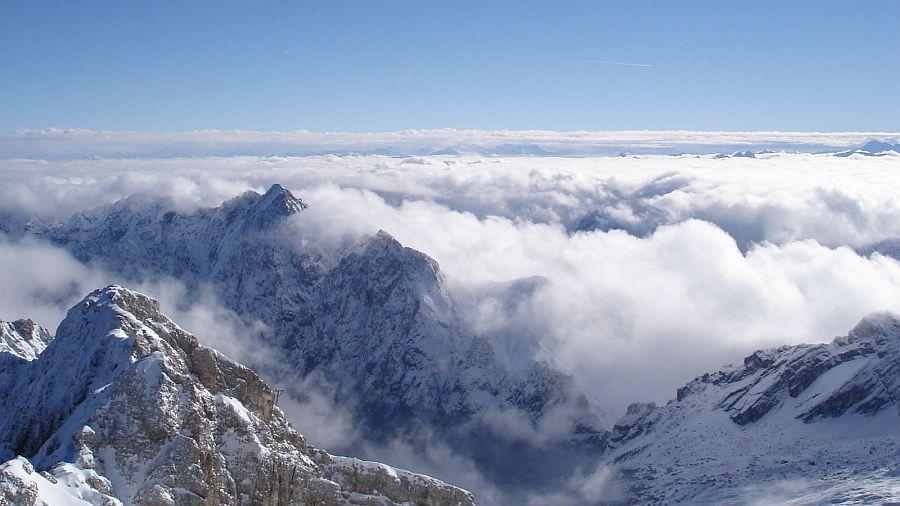 德國慕尼黑-楚格峰山頂雲海